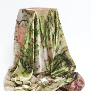 Chinese zelkova tree bark 10% silk scarf