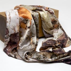 Yunnan Crabapple 100% silk scarf