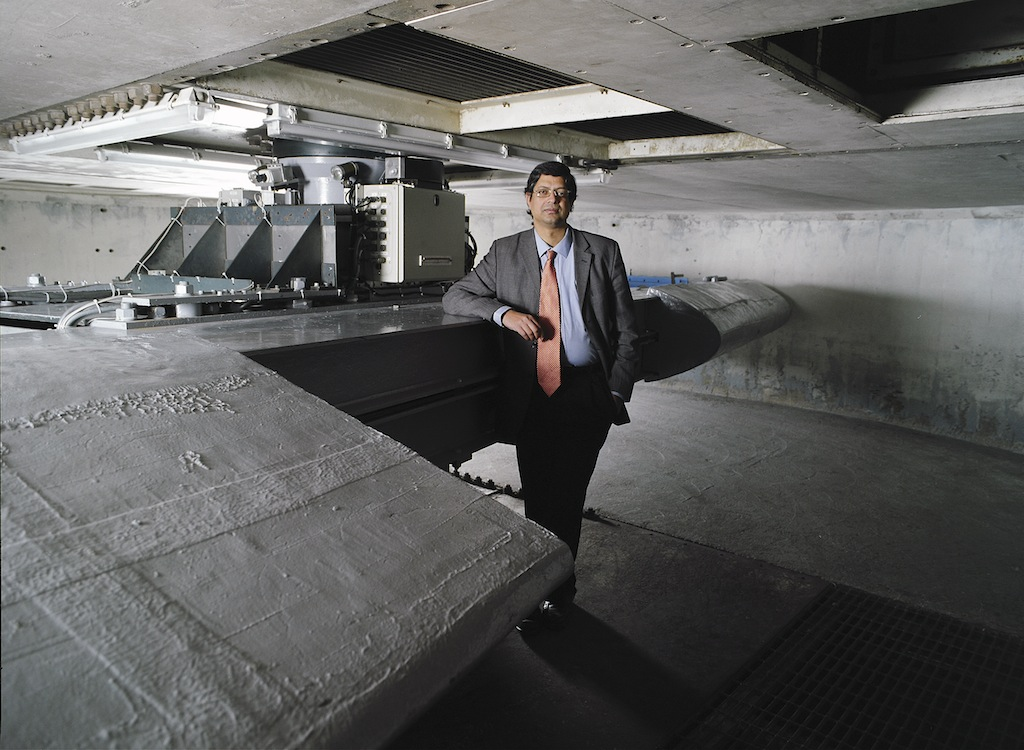 Gopal Madabhushi, Reader in Geoengineering with a 10m centrifuge used to replicate earthquakes