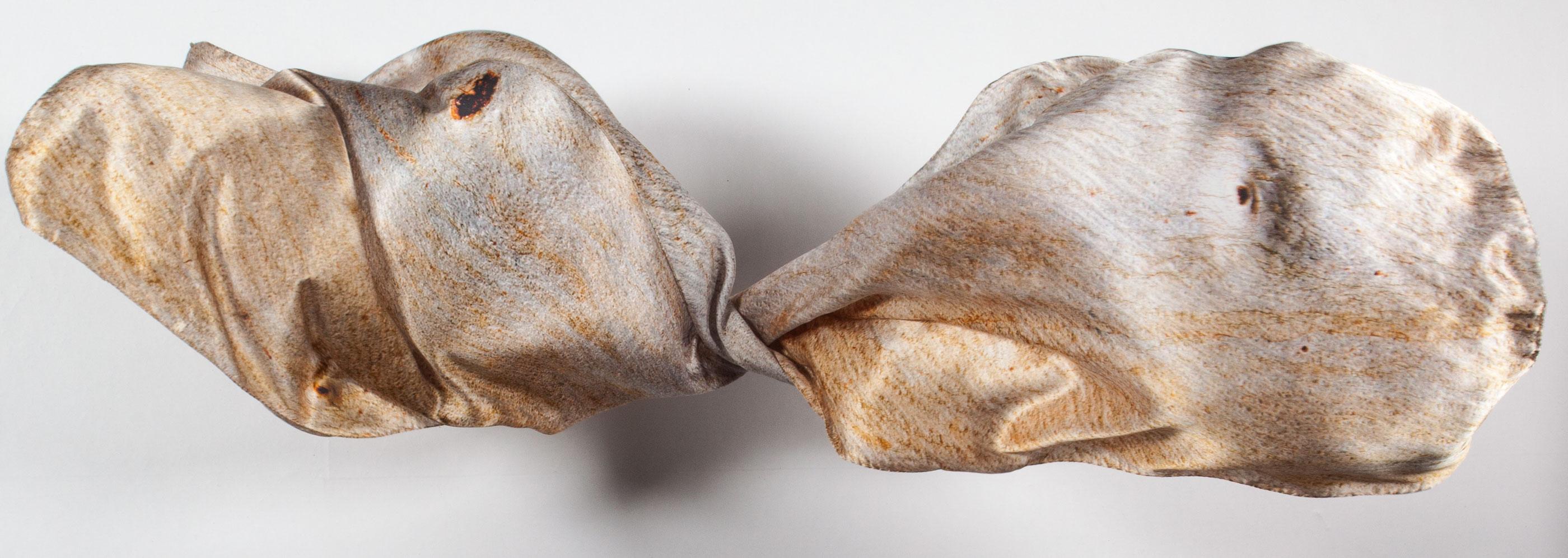 Cider Gum Eucalyptus Bark 100% Silk Scarf Made in Britain