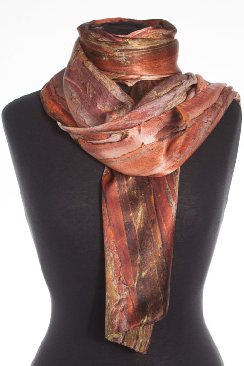 Japanese Cypress Tree 100% Silk Scarf
