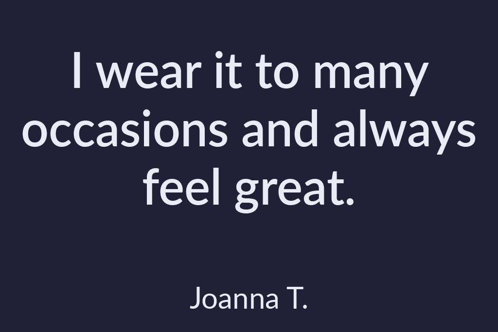 Spur Leaf Quote I wear it on many occasions and always feel great