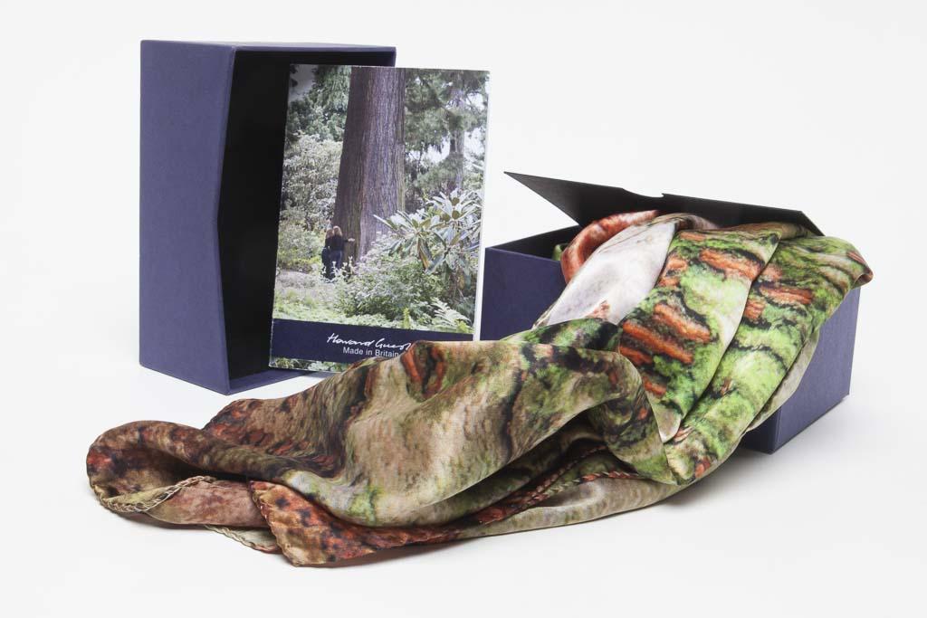 Chinese Zelkova Silk Scarf  by Howard Guest plus Designer Box