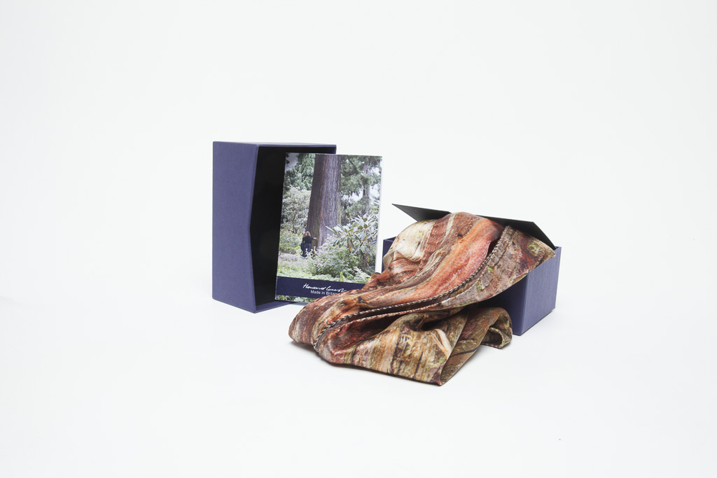 Japanese Cypress Scarf by Howard Guest plus designer Box