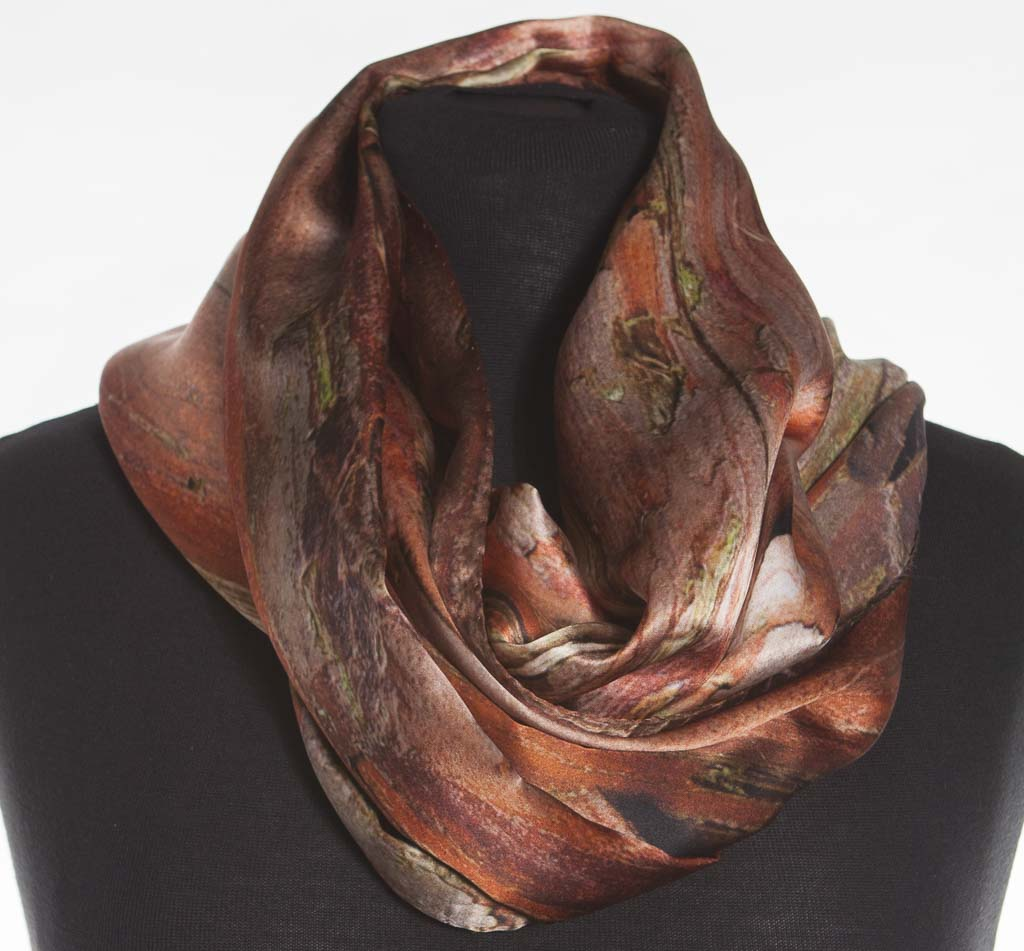 The Japanese Cypress Silk Scarf by Howard Guest
