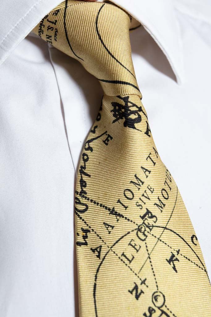 The Newton Silk Tie, Made in Britain from 100% silk.