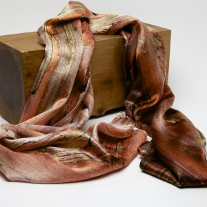 Japanese cypress 100% silk scarf