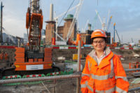 Echo Ouyang, Geotechnical Engineer at the site of the new Battersea Power Station Underground station.