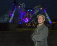 """Bertie Cole, Technical Director and co-founder of Arcadia Spectacular with The Spider, Glastonbury 2017. From the series, """"I Made That"""""""