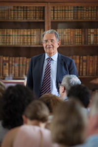 Romano Prodi former President of the European Union and twice Prime Minister of Italy at Pembroke College